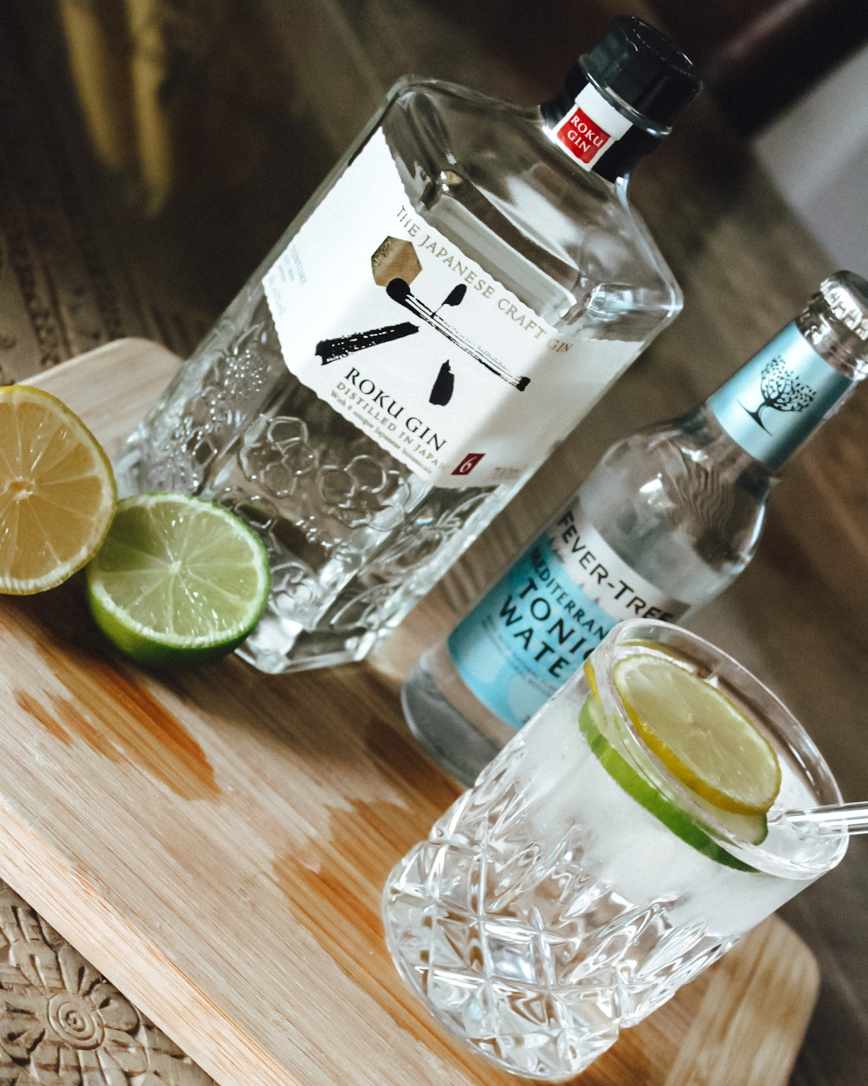 Roku Gin & Fever Tree Tonic with drink